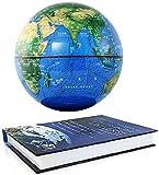 CHHD Globo de tation magnético Flotante Auto Giratorio Anti y Mapa del Mundo Tierra con Luces LED Decoración Creativa del hogar