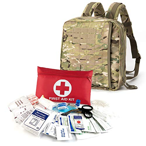 MT All Purpose Military EMT Individual First Aid Kits (IFAK) Backpack System, for Home or Outdoor Survival Emergency