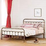 South Shore Prairie Metal Platform Bed-Queen, Bronze