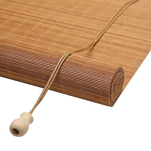 WYAN Bambus Roll Up Rolläden mit Haken, Sonnenschirme Rollos, Außenrollläden for Porch Terrasse, Balkon, Grösse Individuelle Per finestra/Porta/Patio (Size : 80X120CM)