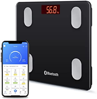 Smart Body Fat Scales Digital Bathroom Weight Scales Bluetooth Weighing Scale for Body Composition Analyzer Body Weight Bo...