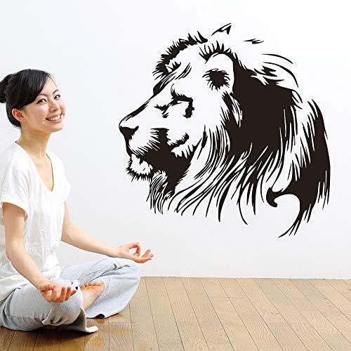 Yaonuli Leo Vinyl muurstickers voor woonkamer paardenhoofd slaapkamer vinyl sticker decoratie dier muursticker