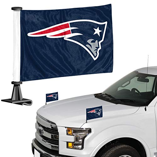 Promark NFL New England Patriots Flaggen-Set, 2-teilig, Ambassador Style, Team-Farbe, Einheitsgröße