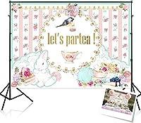 HDフローラルティーパーティーの背景誕生日パーティーの装飾用品-Let s Partea-10x7ft