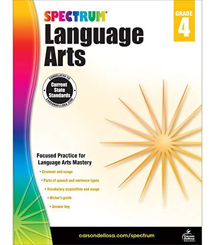 Spectrum | Language Arts Workbook | 4th Grade, 200pgs