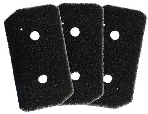 Comedes Schwammfilter kompatibel mit Bosch Trockner Wärmepumpentrockner | einsetzbar statt Bosch Filter 12007650 | Schaumfilter Sockelfilter Nachmotorfilter Ausblasfilter Wärmetauscher (3 Stück)