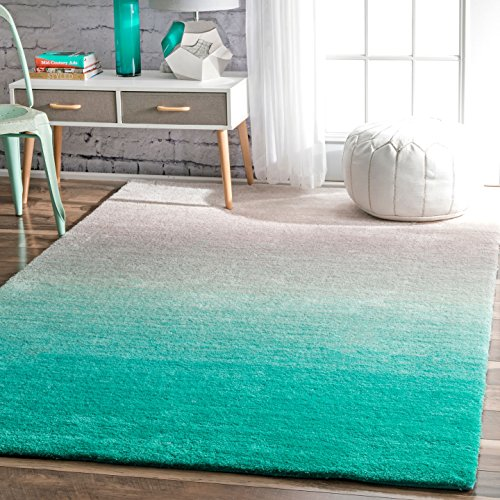 nuLOOM Ariel Ombre Shag Rug, 5' x 8', Turquoise