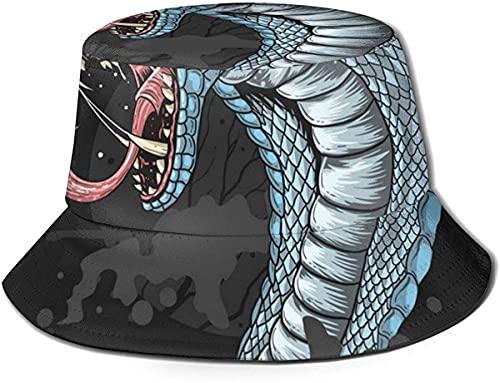 King Cobra Head - Sombrero unisex para pescador