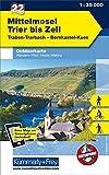 Mittelmosel - Trier bis Zell: Nr. 22, Outdoorkarte Deutschland, 1:35 000 (Kümmerly+Frey Outdoorkarten Deutschland)