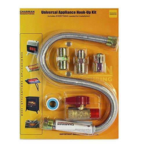 "Universal Gas Appliance Installation Kit - 22"" One-Stop Range Hook-Up -"