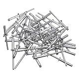 Naliovker 180 Unids/Set M3 Remaches Ciegos de Aluminio de Acero Inoxidable Remaches de DecoracióN de U?As para Muebles Surtido Kit