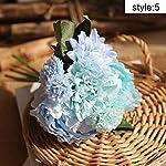XLYS Pack of 3 Artificial Hydrangea Silk Flowers,California Fake Flower for Home Garden Party Wedding Bouquet Decoration,Flower Arrangements