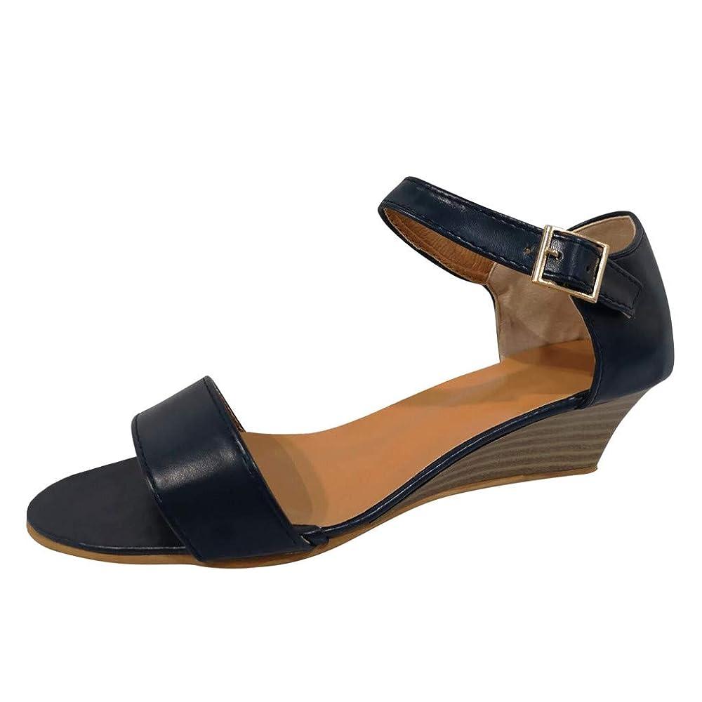 ビザ代表してペア美脚 ウェッジソール Foreted ミュール サンダル ローヒール 黒 ウエッジ 靴 歩きやすい 疲れないカジュアル コンフォートサンダル ストラップ 痛くない