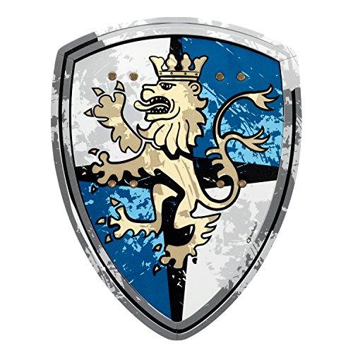 BestSaller 5032 'EVA Premium' Schild 'Edler Löwen-Ritter', blau/grau/gelb (1 Stück)