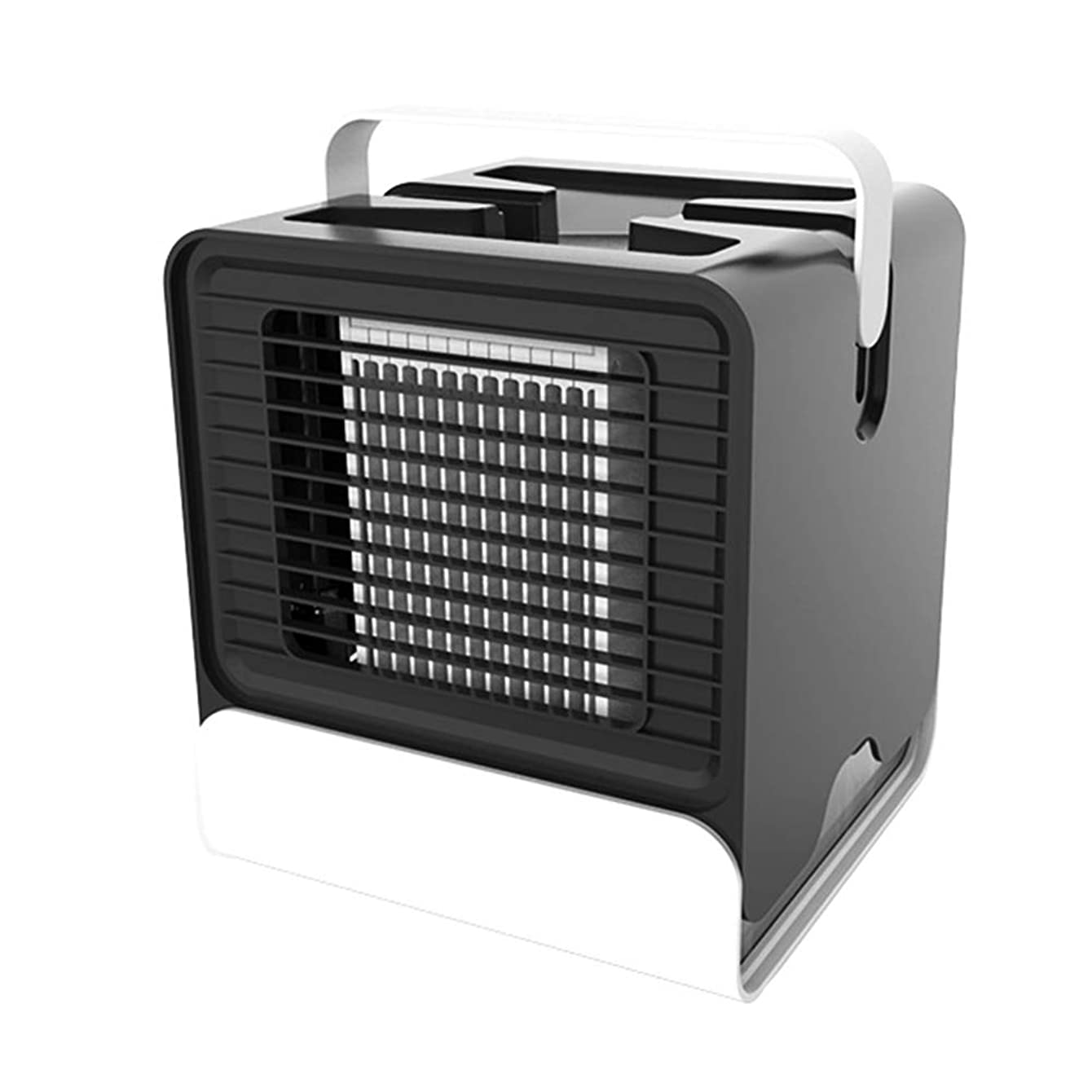 Shuohu Air Conditioner Humidifier Cooler Fan,USB Charging Mini Portable for Office Home Black