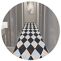 LIXIONG 廊下敷きマット カーペット、マイクロファイバー 耐久性 長いです 滑り止め マット、 洗えるドアマット ために キッチン バスルーム 戸口、 6mm、 カスタムサイズ (Color : A, Size : 1.4x4.5m)