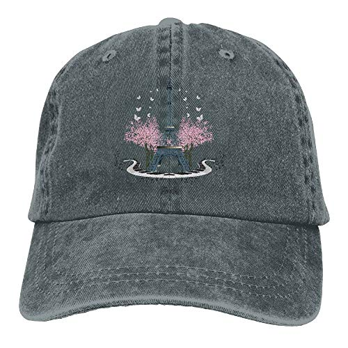 AINCIY Paris Music Denim Hat Gorras de béisbol Ajustables Ajustables para Hombre