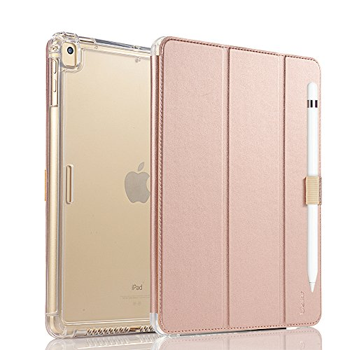 Vanctec for iPad 9.7 Inch 2018/2017 Case, iPad Air Cover, iPad Air 2 Cover, Smart Stand Protective Heavy Duty Rugged Impact Resistant Armor Cover with Pencial Holder