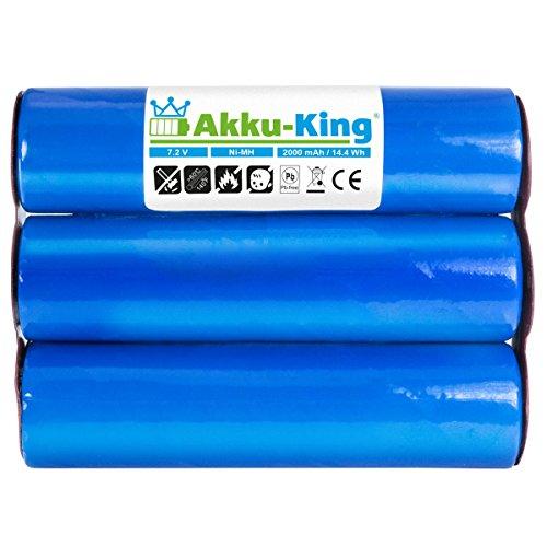 Akku-King Akku kompatibel mit Gardena Accu 6-2000mAh 7,2 Volt - für Strauchschere ST 6 302835, Grasschere ST 6, Bosch AGS NiMH