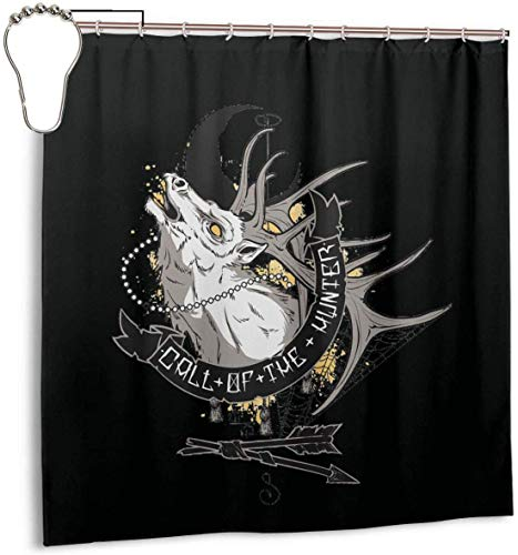 ngquzhe Anruf des Jägers Duschvorhang mit Polyester-Stoff Badezimmer Dekorationen Bad Haken enthalten 72 x 72 Zoll.