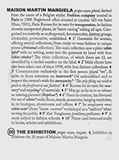 Maison Martin Margiela: 20: The Exhibition