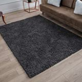 Perla Furniture Gray Shag Grey Shaggy Area Rugs 5X7