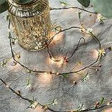 Almak - Guirnaldas luminosas de ratán con luces LED para plantas realistas, guirnaldas luminosas de ratán para bodas, fiestas de Navidad, jardín y tribunales