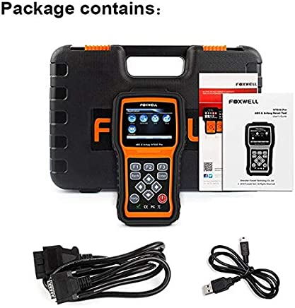 NT630 Pro FOXWELL Automotive Scanner ABS SRS/Airbag OBD2 Code Reader Engine SAS Steering Wheel Angle Sensor Auto Diagnostic : White