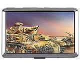 Estuche de Cigarrillos, Titular de la Tarjeta de Acero Inoxidable Militar Panzer IV