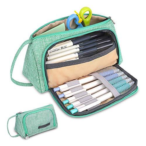 LIUMY Federmäppchen Federtaschen Teenager Mädchen Mäppchen Große Kapazität mit Reißverschluss Schlamperbox Student Make-up Tasche für Schule & Büro 20 x 9 x 11 cm