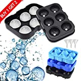 Magicdo Silicone Large Ice Cube Trays for Whiskey, Sphere Ice...