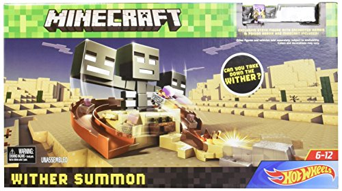 MINECRAFT HOT WHEELS WITHER SUMMON Play Set