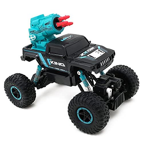 ADSVMEL Pop-Up Bigfoot 2.4GHz Radio Control 4WD Todo Terreno Buggy Electrónico Desierto Deriva Alta Velocidad 30Km / h 45 ° Crawler Stunt Truck Niños Niñas Niños Adultos RC Hobby Regalos