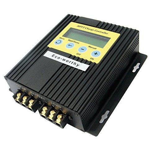 ECO-WORTHY 20 A 12 V/24 V MPPT Solarladeregler Solarregler 15-30{fe320afd231e3bdeb8f77f8d621681ecdf994114c591e49bad5b58d589ab6e4e} mehr Leistung