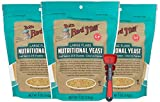 Bob's Red Mill Yeast Nutritional 5 Oz Bundle with Swivel Measuring Spoons by Westkitch (3 Pack)