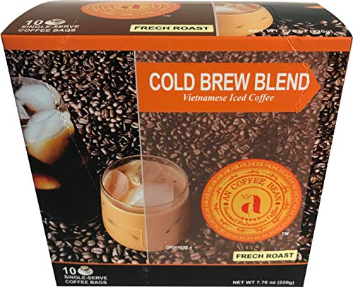 AN COFFEE BEAN - Pour-over coffee - Extra bold - Air Roasted Coffee - 10 Single-serving packets.