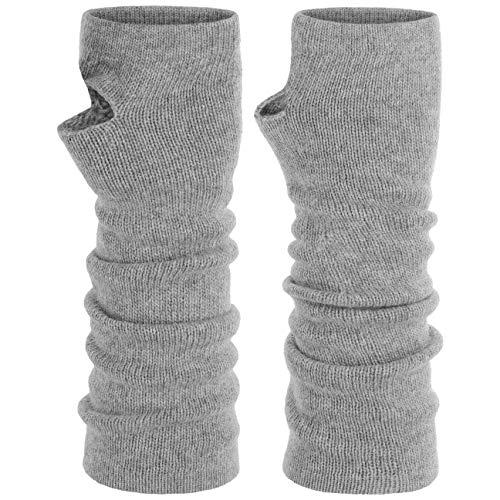 Roeckl Stulpen mit Kaschmir Armstuplen Handschuhe Strickhandschuhe Halbhandschuhe (One Size - hellgrau)
