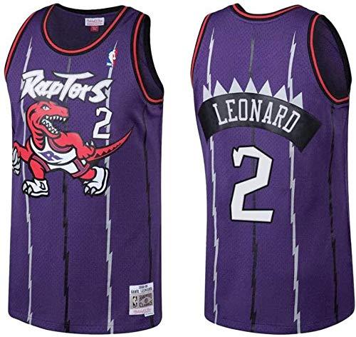 NBA Jersey Herren Basketball Kleidung Raptors Kawhi-Leonard # 2 Jersey Basketball Fan Weste T-Shirt Coole Atmungsaktive Stoff Komfortable Leichte Unisex Uniform,S