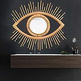 Feel-ling Cadre pour Les Yeux Creative Photo Rotin Artisanat Tenture Murale Cadre Décoration Miroirs muraux Bien-aimé Cadre Tenture Murale