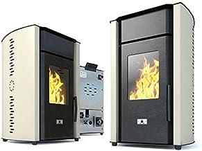 Estufa caldera de pellets Eco Spar Hydro Modelo Alba Salida de calor 18 kW