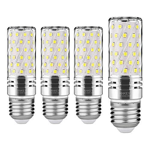 Lampadine LED di mais, E27 candelabro a LED da 15 W, 120W equivalenti a incandescenza, Bianca Freddo 6000K 1500LM, CRI>75+, non dimmerabile,Edison Lampadine Mais-4 pezzi