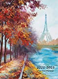 2021-2025 Five Year Planner: Large 60-Month Monthly Planner with Hardcover (Eiffel Tower)