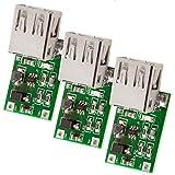 AZDelivery 3 x Modulo Convertitore DC-DC Step-up USB da 3V a 5V Uscita 600mA compatibile con Arduino incluso un E-Book!
