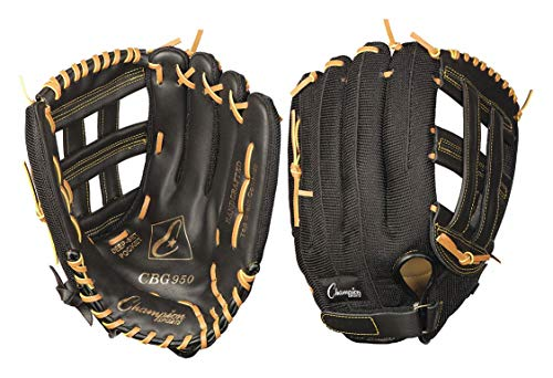 Champion Sports 13 INCH Leather & Nylon Baseball/Softball Glove