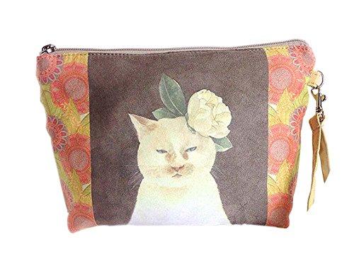 bande chat charmant et beau toile sacs cosmétique/bourse