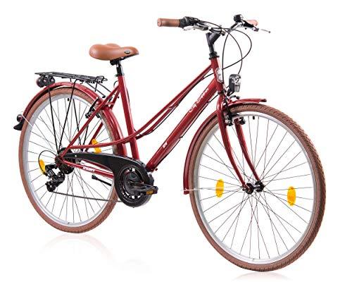 Tretwerk City Explorer 28 Zoll Citybike Damen Rot (2020), M