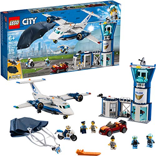 LEGO City Sky Police Air Base 60210 Building Kit (529 Pieces)