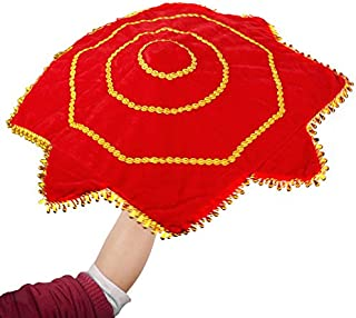 2X Dance Handkerchief Octagonal Towel Red Flower Art Decor WDSJ-01