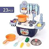 LBLA Cocina Infantil y Comida de Juguete,Juguete de Cocina Set,Mini Cocina de Juguete Set Juegos de imitación de Cocina con Accesorios Juegos de imitación de Cocinitas Regalo Educativo para Niños