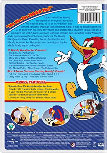 Chilly Penguin WIlly Cartoon Pals Woody Woodpecker Favorite 20 Episodes DVD including Andy Panda + Figure with Pancakes Vinyl Pop! Character Collectible Fan set